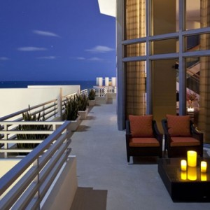 Miami Honeymoon Packages Loews Miami Beach Hotel Presidential Ocean Front Balcony Suite 34