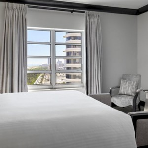 Miami Honeymoon Packages Loews Miami Beach Hotel Vice Presidential City Skyline View Balcony Suite
