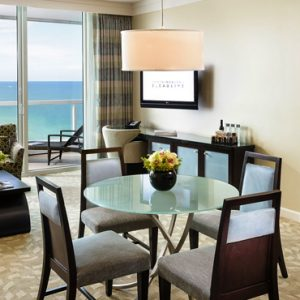 Miami Honeymoon Packages Fontainebleau Miami South Beach Sorrento Ocean View One Bedroom Suite