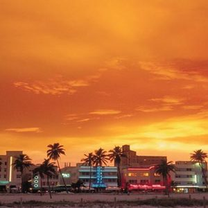 Miami Honeymoon Packages W South Beach Miami Ocean Drive At Sunset
