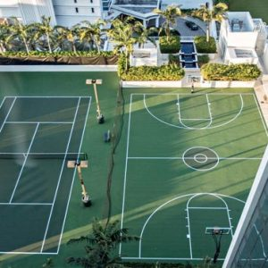 Miami Honeymoon Packages W South Beach Miami SWING Rooftop Tennis Court