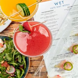Miami Honeymoon Packages W South Beach Miami WET Bar And Grille Salad And Cocktails