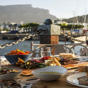 South Africa Honeymoon Packages Victoria And Alfred Hotel, Cape Town Breakfast With A View