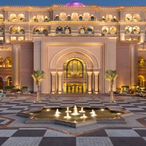 Terrace Area At Night1 Emirates Palace Abu Dhabi Abu Dhabi Honeymoons