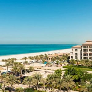 Abu Dhabi Honeymoon Packages St Regis Saadiyat Island Resort Abu Dhabi Aerial View
