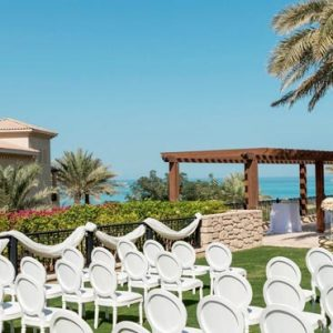 Abu Dhabi Honeymoon Packages St Regis Saadiyat Island Resort Abu Dhabi Outdoor Wedding Set Up