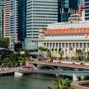 Singapore Honeymoon Packages Fullerton Hotel Exterior By Day