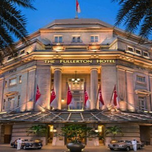 Singapore Honeymoon Packages Fullerton Hotel Front Hotel Entrance