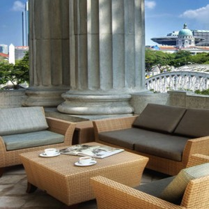 Singapore Honeymoon Packages Fullerton Hotel Governor Suite Balcony