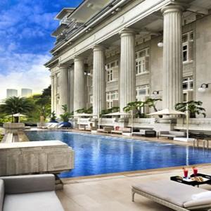 Singapore Honeymoon Packages Fullerton Hotel Infinity Pool