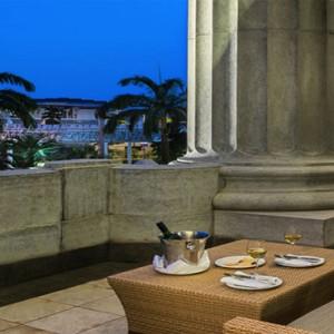 Singapore Honeymoon Packages Fullerton Hotel Loft Suite Balcony
