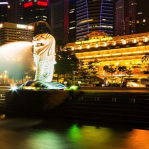 Singapore Honeymoon Packages Fullerton Hotel Merlion Park