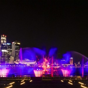 Singapore Honeymoon Packages Fullerton Hotel New Light And Water Show On The Marina Bay