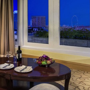Singapore Honeymoon Packages Fullerton Hotel Palladian Suite Living Area