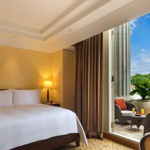 Singapore Honeymoon Packages Fullerton Hotel Quay Pool View Room