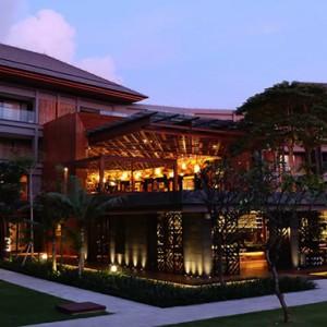 Bali Honeymoon Packages Hotel Indigo Bali Seminyak Beach Hotel Exterior At Night