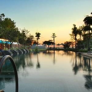 Bali Honeymoon Packages Hotel Indigo Bali Seminyak Beach Pool Sunset View