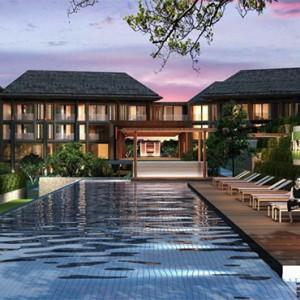 Bali Honeymoon Packages Hotel Indigo Bali Seminyak Beach Pool Exterior At Night