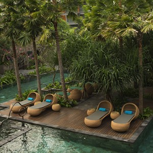 Bali Honeymoon Packages Hotel Indigo Bali Seminyak Beach Sun Loungers By Pool