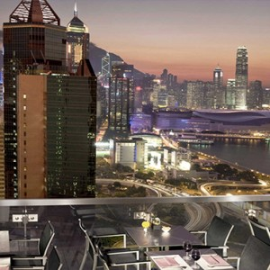 Hong Kong Honeymoon Packages The Excelsior, Hong Kong Island ToTTs Roof Terrace View At Night