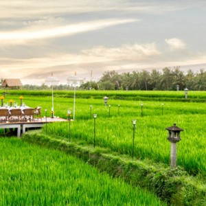 Bali Honeymoon Packages The Chedi Club Tanah Gajah, Ubud Private Dining On Rice Paddy Field2