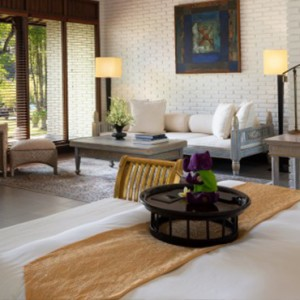Bali Honeymoon Packages The Chedi Club Tanah Gajah, Ubud The Hadiprana Villa Living Area1