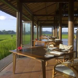 Bali Honeymoon Packages The Chedi Club Tanah Gajah, Ubud The Restaurant View