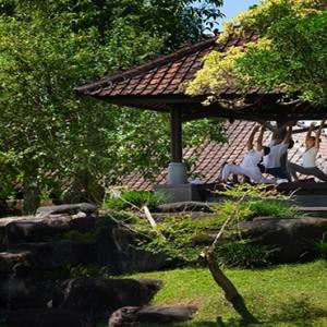Bali Honeymoon Packages The Chedi Club Tanah Gajah, Ubud Yoga1