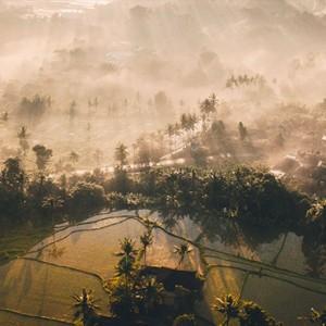 Bali Honeymoon Packages The Chedi Club Tanah Gajah, Ubud Aerial View