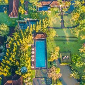 Bali Honeymoon Packages The Chedi Club Tanah Gajah, Ubud Aerial View1