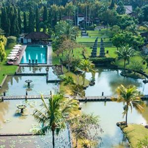Bali Honeymoon Packages The Chedi Club Tanah Gajah, Ubud Aerial View2