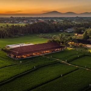Bali Honeymoon Packages The Chedi Club Tanah Gajah, Ubud Aerial View3