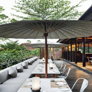 Bali Honeymoon Packages COMO Uma Ubud UMA Cucina Outdoor Terrace