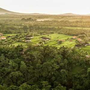 Bali Honeymoon Packages COMO Uma Ubud Aerial View
