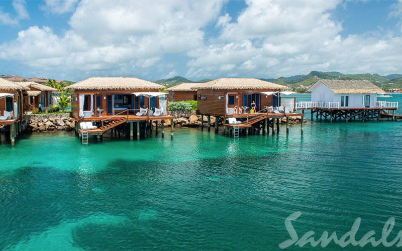 Romantic Holiday Packages At St Lucia Sandals Grande St Lucian Overwater Villas