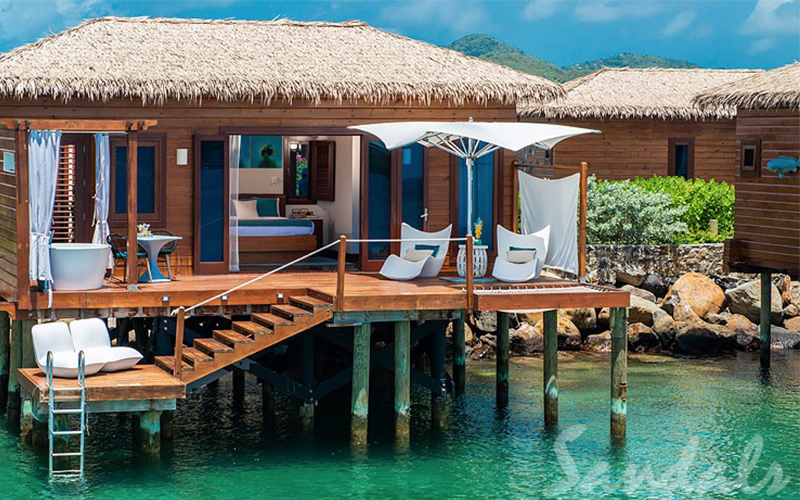 Romantic Holiday Packages At St Lucia Sandals Grande St Lucian Overwater Villas 2
