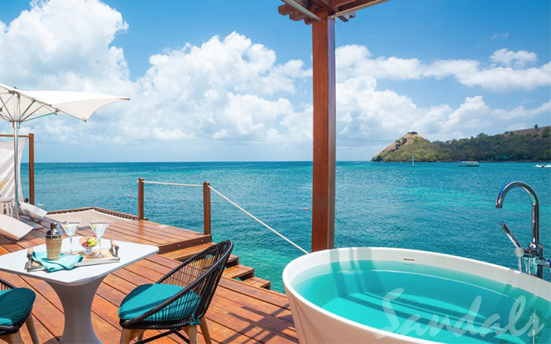 Romantic Holiday Packages At St Lucia Sandals Grande St Lucian Overwater Villas 3