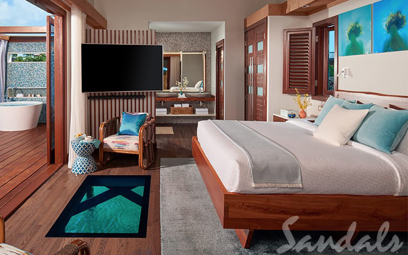 Romantic Holiday Packages At St Lucia Sandals Grande St Lucian Overwater Villas 6