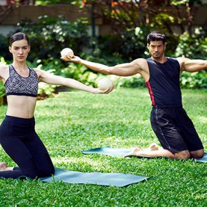 Thailand Honeymoon Packages Chiva Som Hua Hin Toning Ball Exercise