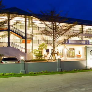 Thailand Honeymoon Packages Devasom Hua Hin Resort Exterior At Night