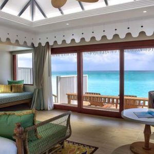 Maldives Honeymoon Packages SAii Lagoon Maldives, Curio Collection By Hilton 2 Bedroom Over Water Pool Villa1