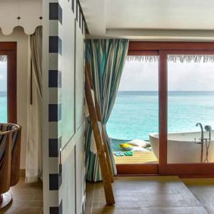 Maldives Honeymoon Packages SAii Lagoon Maldives, Curio Collection By Hilton 2 Bedroom Over Water Pool Villa4