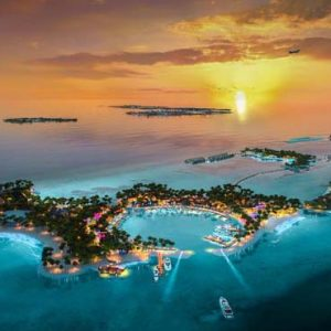 Maldives Honeymoon Packages SAii Lagoon Maldives, Curio Collection By Hilton Aerial View Of Crossroads Maldives