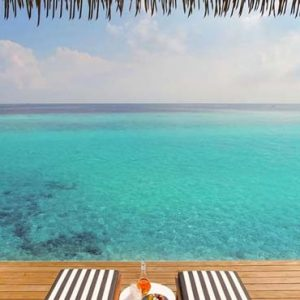 Maldives Honeymoon Packages SAii Lagoon Maldives, Curio Collection By Hilton Overwater Pool Villa Deck View