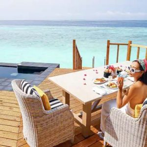 Maldives Honeymoon Packages SAii Lagoon Maldives, Curio Collection By Hilton Overwater Pool Villa Dining