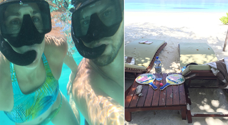 Mathew And Cara's Unforgettable Maldives Honeymoon Coco Palm Bodu Hithi Relaxing And Snorkeling