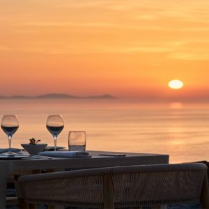 Greece Honeymoon Packages Canaves Oia Epitome Elements Restaurant Sunset Dining