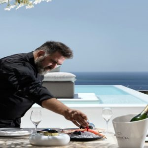 Greece Honeymoon Packages Canaves Oia Epitome In Room Dining