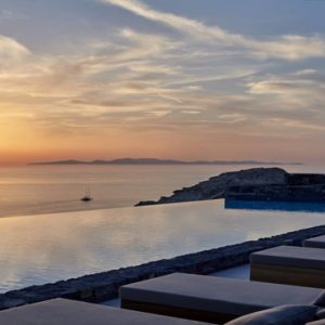 Greece Honeymoon Packages Canaves Oia Epitome Pool View At Sunset