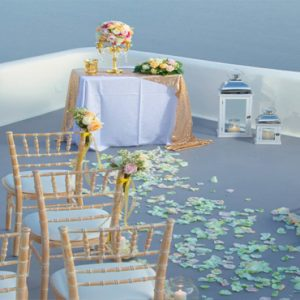 Greece Honeymoon Packages Canaves Oia Epitome Wedding Setup1